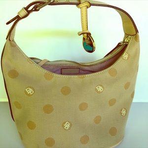 Dooney and Bourke Beige Mini Bucket Handbag.